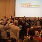 Konferensen avslutas med Internationalen