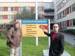 Rosa och Dario vill ha en äldreomsorg utan privata vinstintressen, även i Årsta