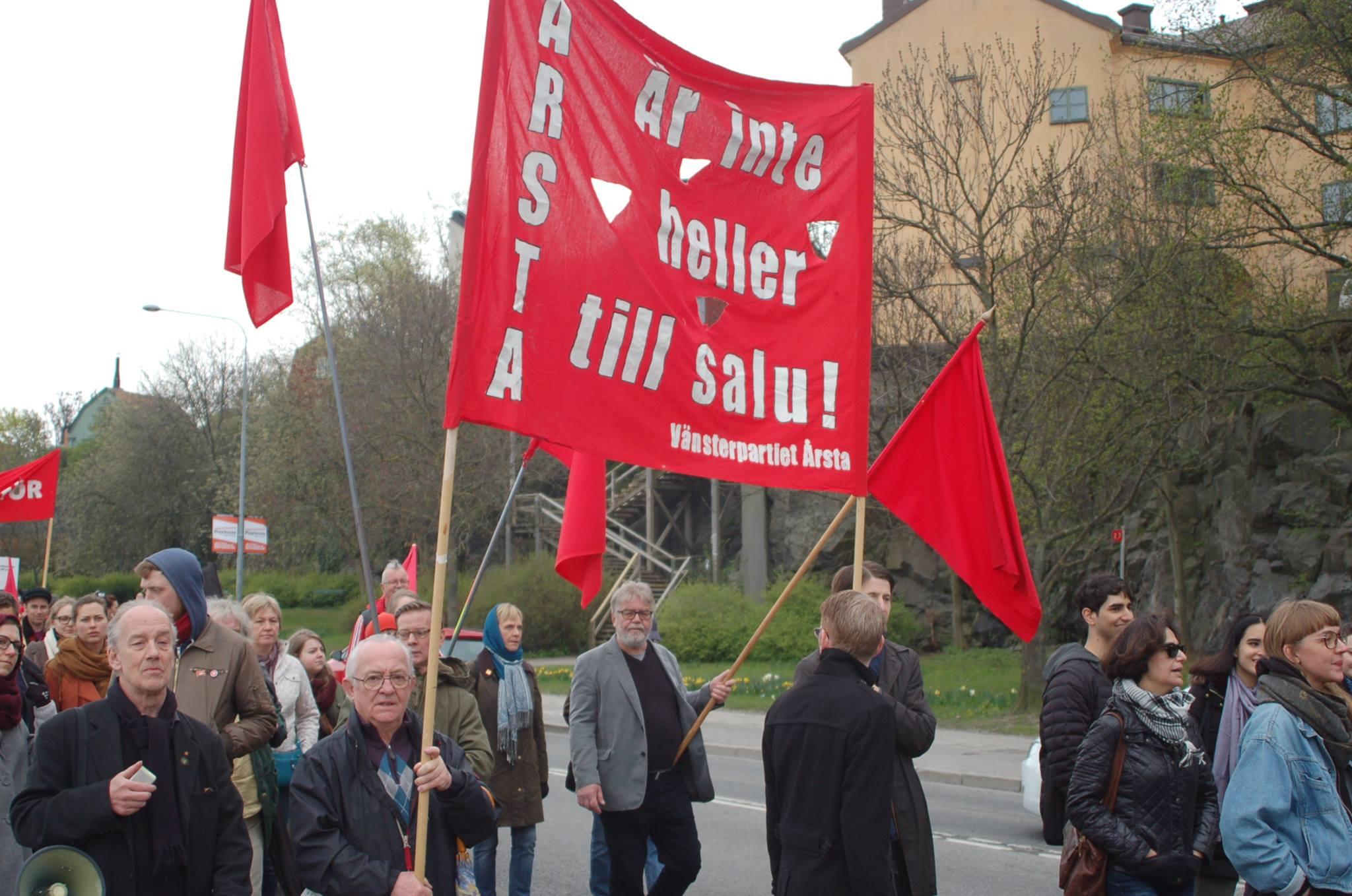 partiföreningens banderoll